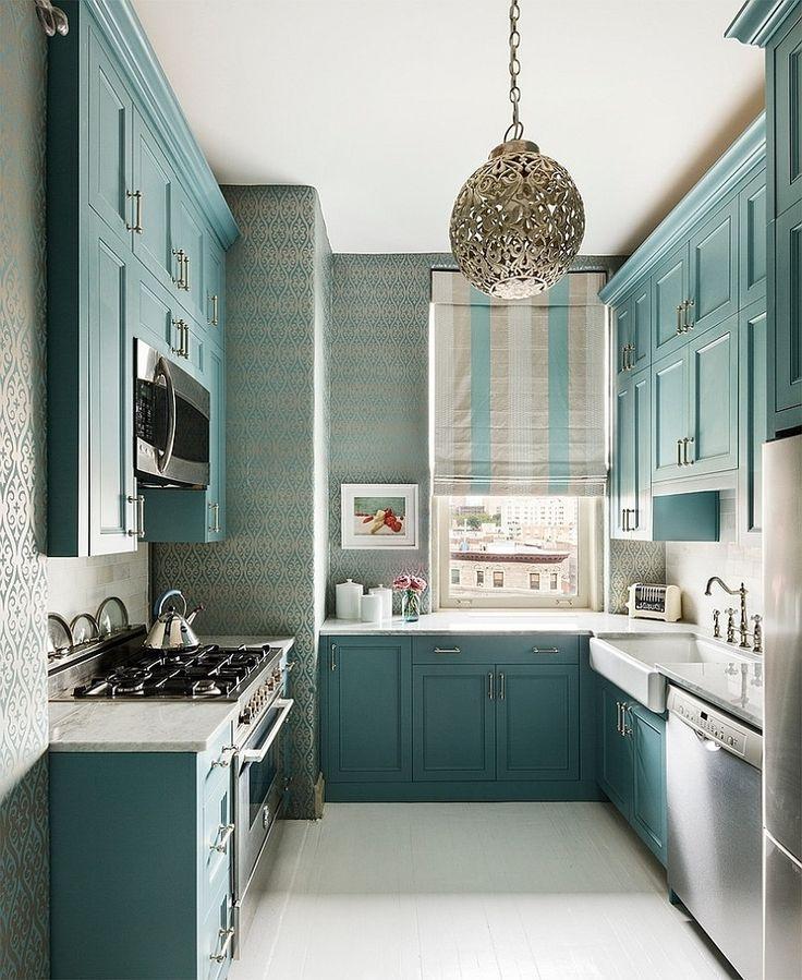Elegant painted kitchen cabinets.